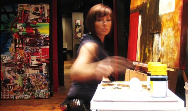 painter making art