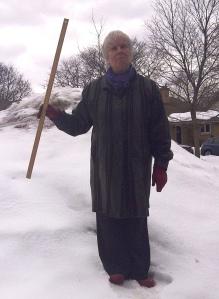 Judith Miller standing in snow