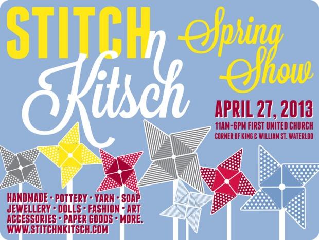 Stitch n Kitsch spring 2013poster