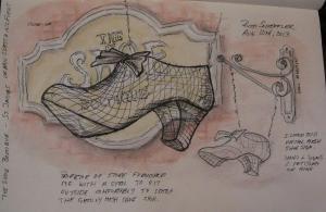 sketch of shoe