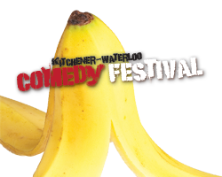Banana logo for comedy festival