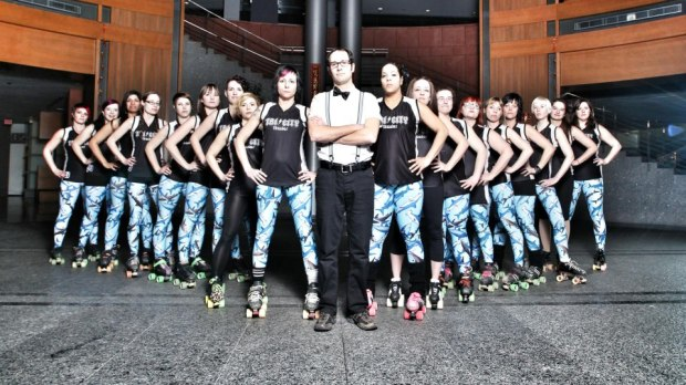 roller derby team shot