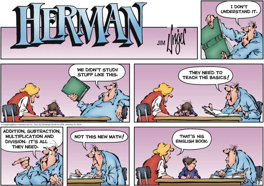 Herman comic | Red leather booth
