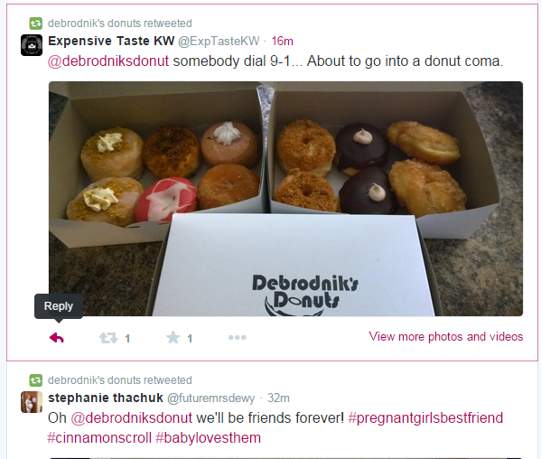 Gourmet donuts in boxes