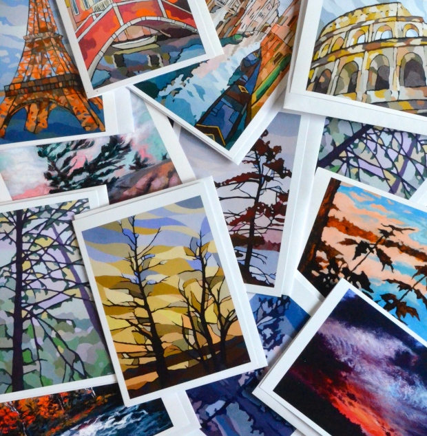 Oil painting art cards