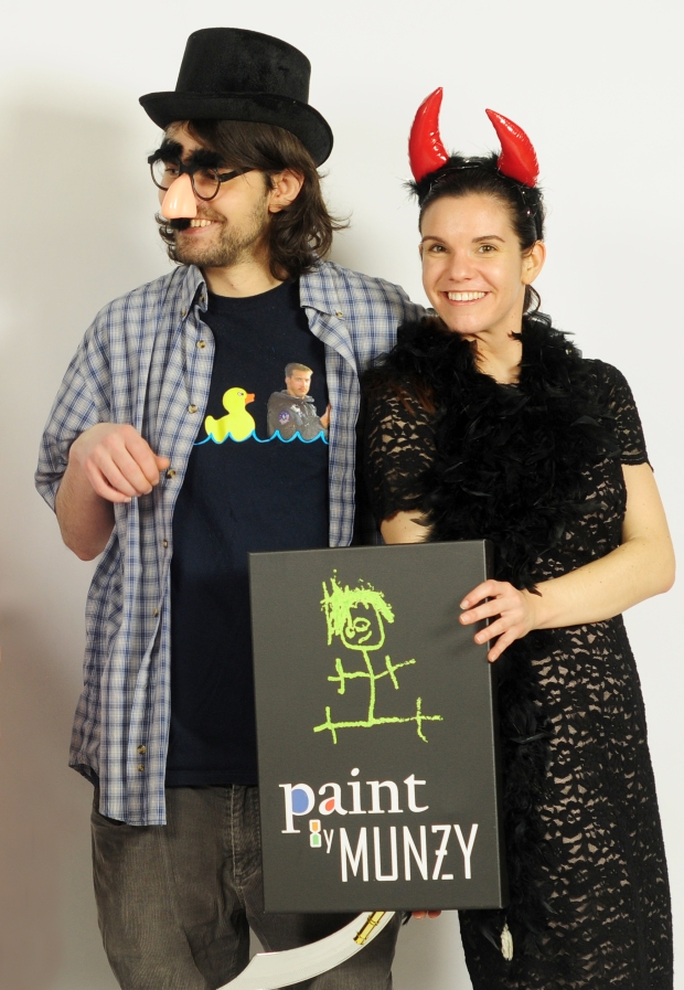 Brother and sister Paint by Munzy team, Jonathan and Laura Munz