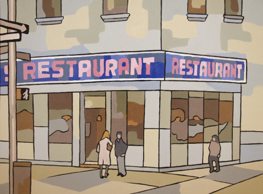 Seinfeld restaurant oil painting