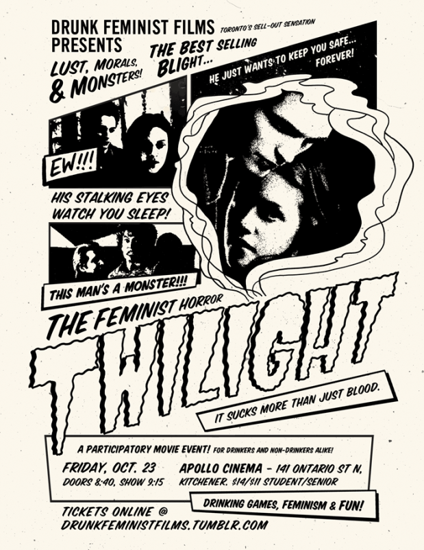 Black and white poster for Twlight