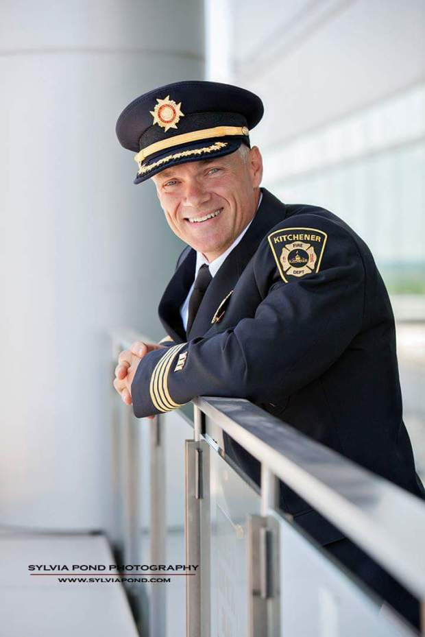 Police man in uniform portrait